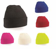 enfants garçon filles enfants laine tricotée hiver revers côtelé ski bonnet