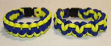 Boston Marathon Colors Paracord Bracelet 2013 20% donation to Mass General Hosp
