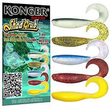 Fishing Soft Lures Bait SHAD GRUB 9cm 3.5'' Ripper Twister Jig Heads Kopyto Pike