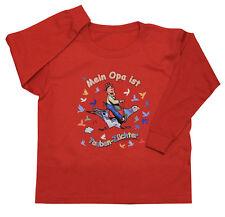 Enfants Sweat Haut 104 - 164 Opa est Pigeons Au real TB341 rouge