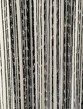 Fadenvorhang 90x240cm, Fadengardine, Türvorhang mit Lurex siber