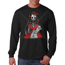 Day Of The Dead Mother & Child Sugar Skull Skeleton Long Sleeve T-Shirt
