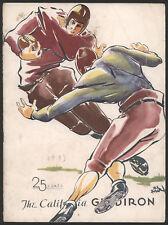 1933 Idaho vs Cal  Football Game Program
