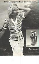 PUBLICITE 1976   JEAN DESSES sweaters PARFUMS