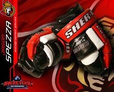 JASON SPEZZA SIGNED Game Model Sher-Wood Gloves - Ottawa Senators