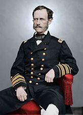 Admiral Dahlgren Gun Naval Ordnance Color Tinted photo Civil War 01195