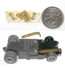 6 1981 Ideal Toys HO Slot Car Pickup Shoe SPRINGS are Aurora 8888 Work Fine!