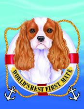 Cavalier King Charles Spaniel Blenheim World's Best First Mate Decorative Flag