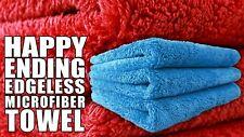 12x Chemical Guys Monster Fleece Edgeless Tagless Microfiber Towel 450GSM 16X16