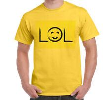 LOL Happy Face Yellow Fun Men's T-SHIRT Tee Gift Present