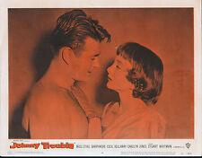 CAROLYN JONES/STUART WHITMAN original BAD GIRL 11x14 JOHNNY TROUBLE lobby card