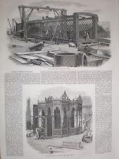 Cochrane & co of Woodside Ironworks Dudley bridges for India 1858 prints