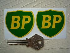"""BP OLIO 89 SU SCUDO Classic Adesivi Auto 2,5 """"PAIR Sports RACING Decalcomanie BENZINA"""