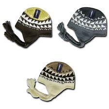 1 Dozen Decky Warm Peruvian Style Braided Ear Tail Chullo Beanies Caps Wholesale