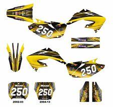 CR 125 250 Honda graphics 2002 2003 2004 2005 2006 - 2013 decal kit #3333 Yellow