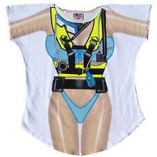 La Imprints Women's Bathing Suit Cover Up Scuba Girl Long Cotton T-Shirt
