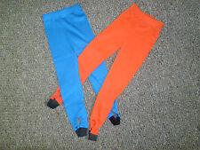 Ragazze Leggings Staffa Pantaloni Rosso Blu Royal Età 2-6 anni