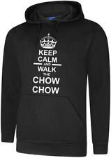 Keep Calm & Walk The Chow Chow Dog Mens Womens Hoody Hoodie Hooded Sweatshirt