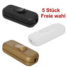 5 x Schnurschalter Schnurzwischenschalter Zwischenschalter Wipp Kipp-Schalter