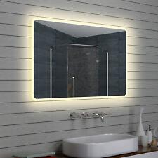 Lux-aqua Design LED Badezimmerspiegel Badspiegel Lichtspiegel Wandspiegel M NEU