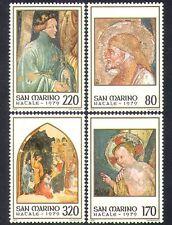 San MARINO 1979 Natale/Saluti/Natività/SANTI DIPINTI/ARTE/4 V Set n37010