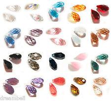 Swarovski Crystal Element 6010 Briolette Bead Charm Pendant Many Color / Size