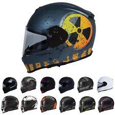TORC Mako T14 Full Face Motorcycle Dual Visor Street Helmet - DOT ECE