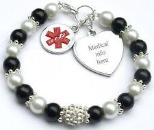 Ladies Fashion Medical Alert Identity Bracelet Penicillin Peanut Allergy Info