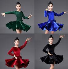 Children Girls Latin Salsa Dance Dress Ballroom Costume Competition Dancewear