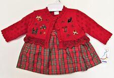 Baby Plaid 2pc  Christmas Dress Presents on Sweater NWT b.t. kids