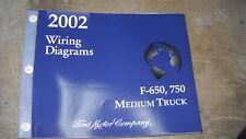 2002 Ford F-650 F-750 Super Duty Truck Electrical Wiring Diagram Manual EWD OEM