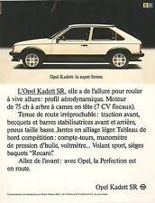 PUBLICITE ADVERTISING 1980 OPEL Kadett SR la super forme