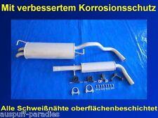 Abgasanlage Auspuff  VW Golf IV 1.6i 8V & 1.6i 16V Fließheck (Typ 1J1) + Kit