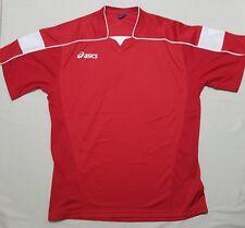 ASICS Uomo Set Obiettivo Calcio Formazione Camicia T-Shirt Rosso XL
