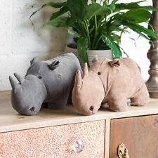 Novelty Rhino Door Stop Cute Fabric Doorstop Weighted Animal Stopper Wedge Gift