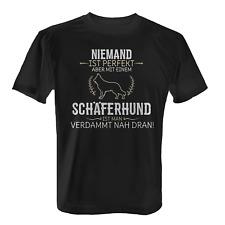 Schäferhund Herren T-Shirt Spruch Perfekt Geschenk Hunde Besitzer Rasse Lustig
