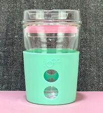 IOCO ALL GLASS 8oz Glass Coffee reusable mug cup keep  -Mint / Marshmallow Seal