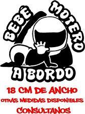 b79 - Bebé a bordo niño niña Pegatina Adhesivo Vinilo Sticker Coche Moto Motero