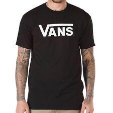 Tenis Vans clásicas logotipo Camiseta Negro y Blanco