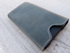 iPhone 6(s) & Plus Cuero Funda De Móvil gris Casos La Cubierta DESEO GRABADO