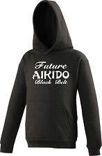 Personalised KIDS Hoody AIKIDO Future Black Belt Martial Arts