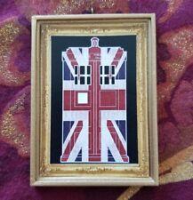 Dr. Who Union Jack Tardis Christmas Tree Ornament/Magnet/Dollhouse miniature