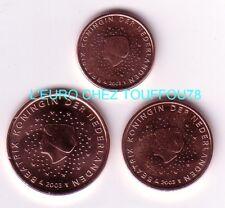 Pièces de 1,2,5cts euros des Pays Bas 2003.