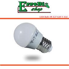 LED BULB E27 G45 4W 3000K 4500K 320lm LIGHT WARM NATURAL WHITE LAMP LIGHT V-TAC