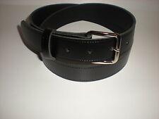 Negro De Cuero cinturones adecuados para hombres y mujeres de pequeñas a Xx Grandes Tamaños
