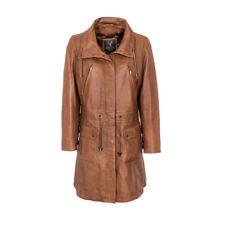 Ladies Leather Parka 3/4 length coat woodlands Leather SR1588