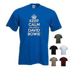 'Keep Calm and Listen to David Bowie' Music T-shirt Tee