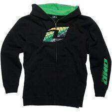 One Industries Youth Keeper Black / Green Zip Up Hoodie Sweatshirt SALE