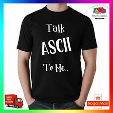 PARLARE ASCII A ME T-shirt T divertente computer DEVELOPER PROGRAMMATORE PC IT