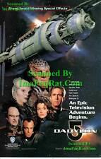 Babylon 5 Series Premier: Great Original Photo Print Ad